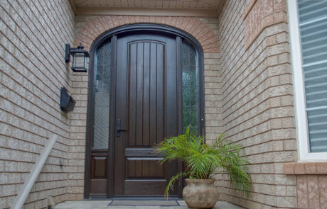 arched front door - stained