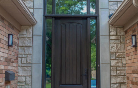 wood grain rustic fiberglass door