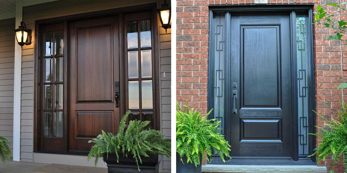wood vs fiberglass doors
