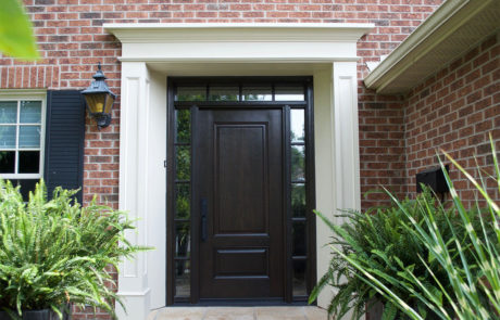 traditional front door exterior